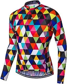 Men s Cycling Jerseys Tops Biking Shirts Long Sleeve Full Zipper Pocket USA 8c393df6d