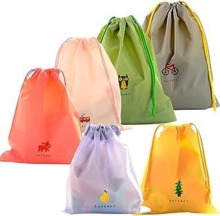 6 Pcs Bolsa de Cuerdas Impermeable, EASEHOME Saco de Deporte Bolsas Cordon de Gimnasio para Playa Viaje Natación Gymsack I...