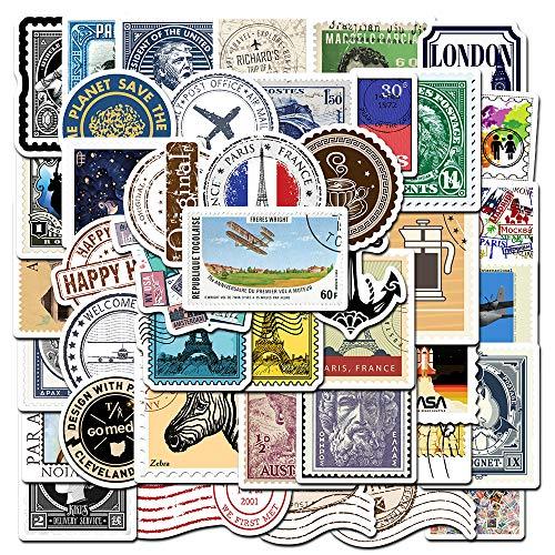 REZAUP Juego de 50 pegatinas de copos de sellos, pegatinas vintage botánicas para scrapbooking, bullet journal, planificador, diario de viaje