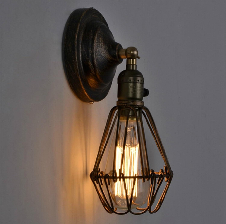 DGF Modern Minimalist Iron Art Lámpara de Parojo Retro Americana del Dormitorio del Pasillo del Dormitorio del Estilo