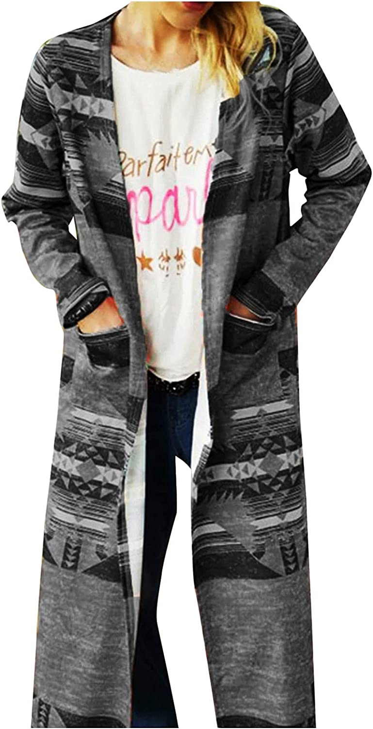 Light Sweaters for Woman Womnes Button Down Cropped Boho Open Front Long Sleeve Cardigans Outerwear