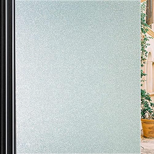 Qualsen Pellicola per Finestre Pellicola Privacy Pellicola Smerigliata per Finestre Pellicola per Vetri Anti-UV (90cm x 200cm)