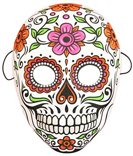 Unbekannt FIG 3740 Halloween bunt | Größe ca. 18x25 cm | Los Muertos Maske, Uni