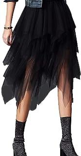 Carolilly Gonna in Tulle Irregolare da Donna Gonna Estiva a Vita Alta da Donna Sottogonna Anni ´50 Vintage Sottogonna al G...