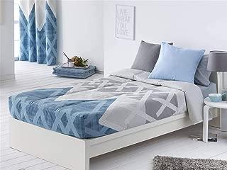 Sansa - Edredón Ajustable AMAN Cama 90 - Color Azul