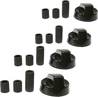 Quattro universale per Tecnogas bianca fornello piano cottura nero manopola di controllo VENTI Adattatori forno