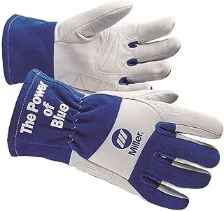 Miller ELECTRIC263354 Welding Gloves, L, Wing, 10In, Blue/White, PR