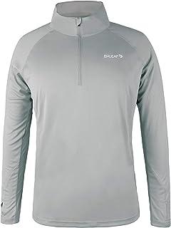 Men's UPF 50+ Sun Protection Shirts Long Sleeve Dri Fit SPF T-Shirts Lightweight Fishing Hiking Running