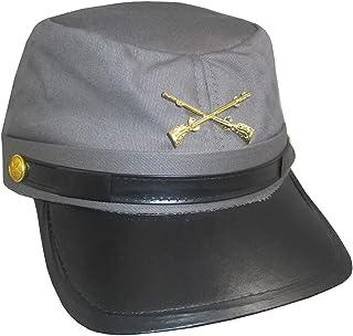 e530e7681f8 Grey Confederate Hat Soldier Federal Army Kepi Mens Civil War Costume  Accessory