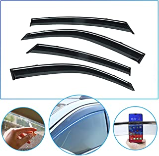 4 Pcs/Set Tape-On Outside-Mount Side Window Wind Deflectors Rain Guard for Volvo XC60 2018-2019 Front Rear Car Rooftop Visors Accessories & Body Parts