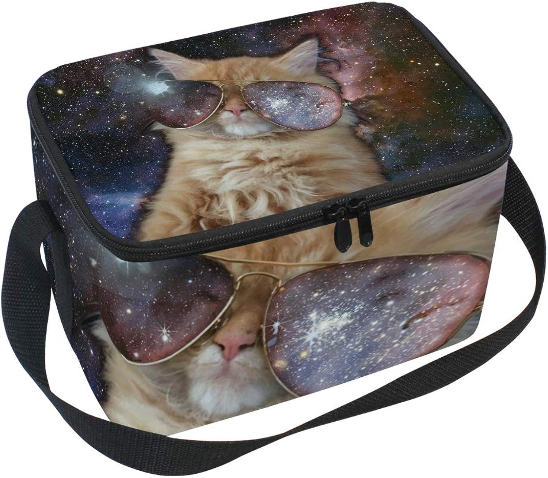 Kühltasche für Picknick, mit Schultergurt, Motiv Space Cool Cat B07HD8QC1N  Klassisch