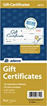 gift certificate booklets