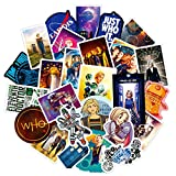 Doctor Who Stickers 50 Pcs Waterproof, Removable,Lovely,Beautiful,Stylish Teen Stickers, Suitable for Boys and Girls in Water Bottles, Laptops, Phones,Guitar, Suitcase Durable Vinyl