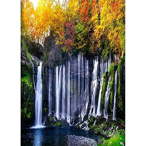 Semplice paesaggio primaverile ritratto fotografia sfondo scenario naturale cascata sfondo puntelli A12 10x10ft 3x3m