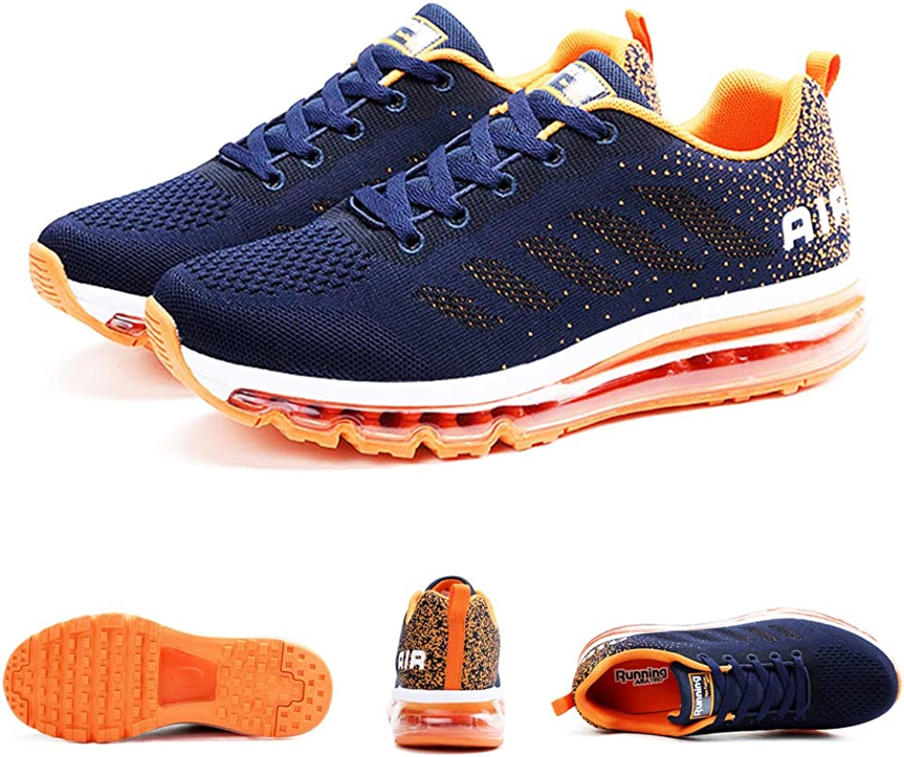 Women Men Running Shoes Sports Trainers Air Shock Absorbing Sneakers for Walking Gym Jogging Fitness Lightweight