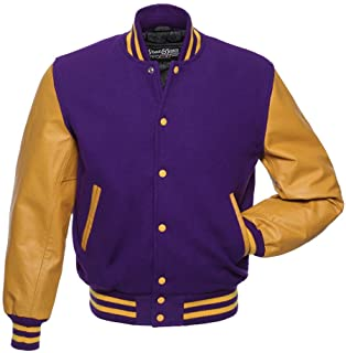 Stewart & Strauss Original Varsity Letterman Jackets (48 Team Colors) Wool & Leather XXS to 6XL