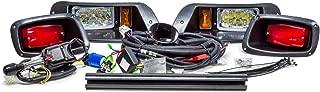 EZGO TXT Golf Cart Street Legal Full LED Headlight Tail Light Upgrade Kit Turn Horn Brake 1996-2013
