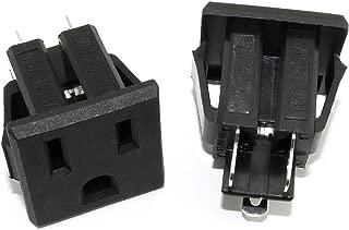 RuiLing 2PCS Black US Type Industrial Plug AC 125V 15A Panel Mount Outlet Power Socket