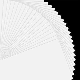 "Printable Vinyl Sticker Paper for Inkjet Printer - 8.5""x11"" 20 Sheets - Matte White Printable Sticker Paper Vinyl by JANDJ..."