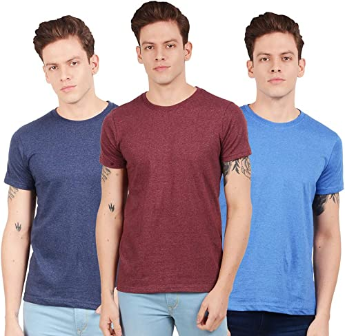 Men s Regular Fit T Shirt Pack of 3