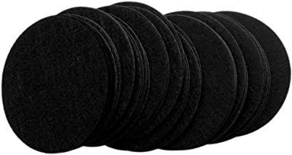 Playfully Ever After 3 Inch Black 30pc Stiff Felt Circles