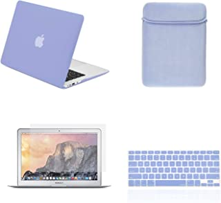 TOP CASE - 4 in 1 Essential Bundle Hard Case, Keyboard Cover, Sleeve Bag, Screen Protector Compatible MacBook Air 13