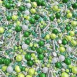 Manvscakes | Sprinkles | 4 oz | Colorful sprinkles | Jimmies | Metallic sprinkles | Sprinkle mix | Cake sprinkles (Green)