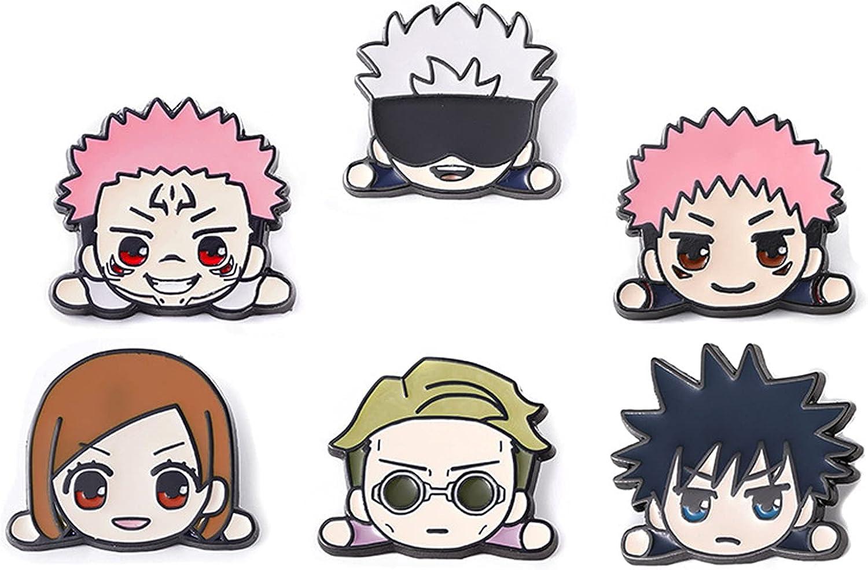 Jujutsu Kaisen Pins Set/6PC,Nanami Kento Pin Megumi Fushiguro Brooch Anime Brooch Badge Decoration Gift for Fans