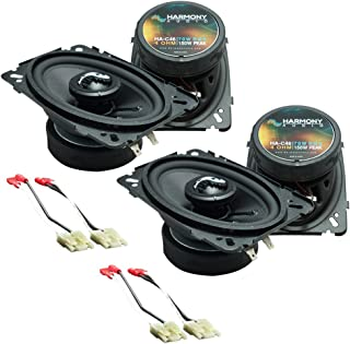 Compatible with Chevy CK Truck (Full Size) 1988-1994 Factory Premium Speaker Upgrade Harmony (2) C46