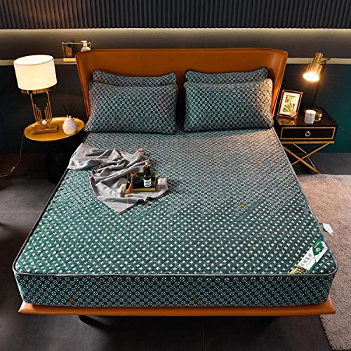 Mattress Protector,Polyester Milk Velvet Fitted Sheet, Extra Thick Flannel Bed Cover, Mattress Protector For Warm Autumn And Winter-I_180*200+30cm