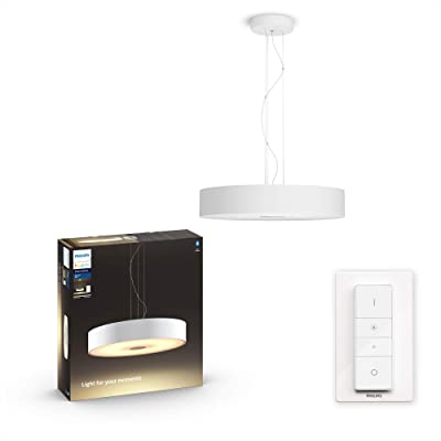 Philips White and Color Ambiance FAIR Suspension 39W - Blanc (télécommande incluse), compatible Bluetooth