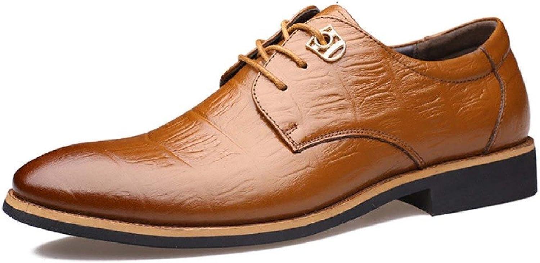 LEDLFIE Men's Real Leather shoes Business Low Help Men's shoes