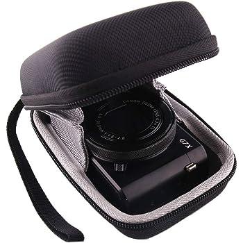 DURAGADGET Silver Tough Shock Resistant Aluminium Compact Camera Carry Case with Dual Zips for Canon IXUS 125 HS IXUS 510 HS and PowerShot A810 Wrist Strap Worth /£4.99 IXUS 240 HS