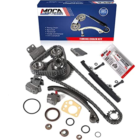 Evergreen TK3003WOPA Compatible With Nissan KA24DE DOHC 16V Timing Chain Kit w//Oil Pump AISIN Water Pump