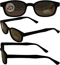 The Original KD's Biker Shades By PCSUN Matte Black Frames Gold Mirror Lenses. As Seen On