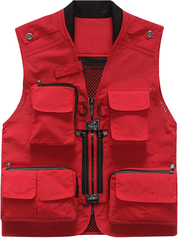 Gihuo Men' s Casual Utility Outdoor Work Photo Safari Fishing Cargo Vest