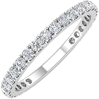 1/2 Carat Diamond 3/4 Eternity Wedding Band in 10k Gold