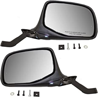 Manual Side View Paddle Type Mirrors Black & Chrome Driver and Passenger Replacement for Ford SUV Pickup Truck F7TZ17683DAB F7TZ17682DAA