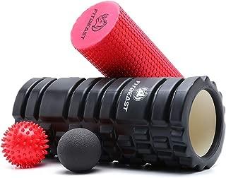 Rodillos de Espuma de Fitness para Masaje de Tejido Profundo, Rodillo de Espuma de Punto de activación para Masaje Muscular y Terapia de relajación Profunda, Juego de Rodillos de Espuma 2 en 1