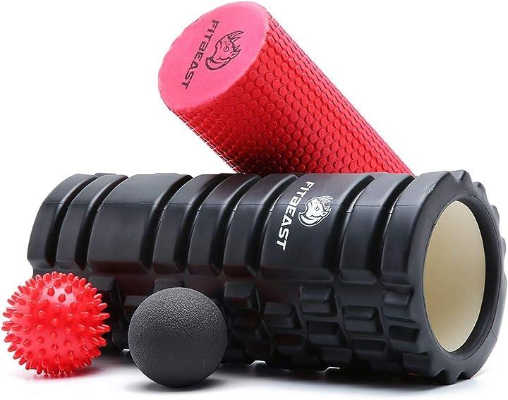 Rullo in schiuma muscolare 2-1 set per esercizi per gambe e braccia doloranti B07G747L59