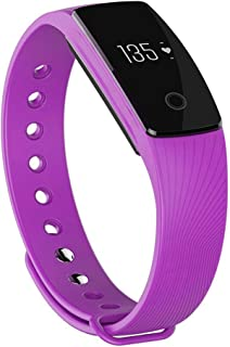 Zomtop ID107 Bluetooth 4.0 Smart Bracelet Smart Band Heart Rate Monitor Wristband Fitness Tracker for Android iOS Smartphone(Purple)
