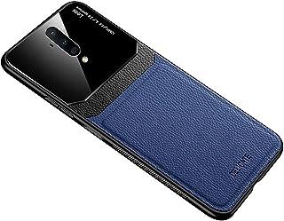 حافظة ون بلس 7T برو من الجلد الناعم غطاء سيليكون لحماية الزجاج One plus 7T Pro - أزرق