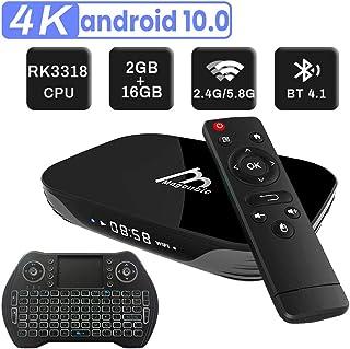 Android TV Box 10.0 2GB 16GB Decodificador Smart TV Box H616 USB 2.0 1080P Ultra HD 4K 6K HDR WiFi 2.4GHz Reproductor Multimedia de Transmisión con Mini Teclado Inalámbrico Retroiluminado: Amazon.es: Electrónica