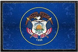 Utah State Flag UT 1896 Iron-On Vintage Embroidered Travel Patch Emblem Badge Trip Souvenir Gift Holiday Keepsake