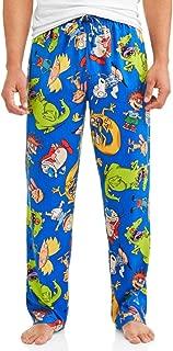 Nickelodeon Cast of Cartoon Characters Men's Minky Fleece Graphic Lounge Pants