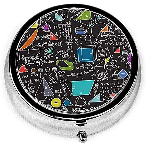 Caja de la píldora, caja portátil de las píldoras de la caja de la píldora del diseño de la matemáticas