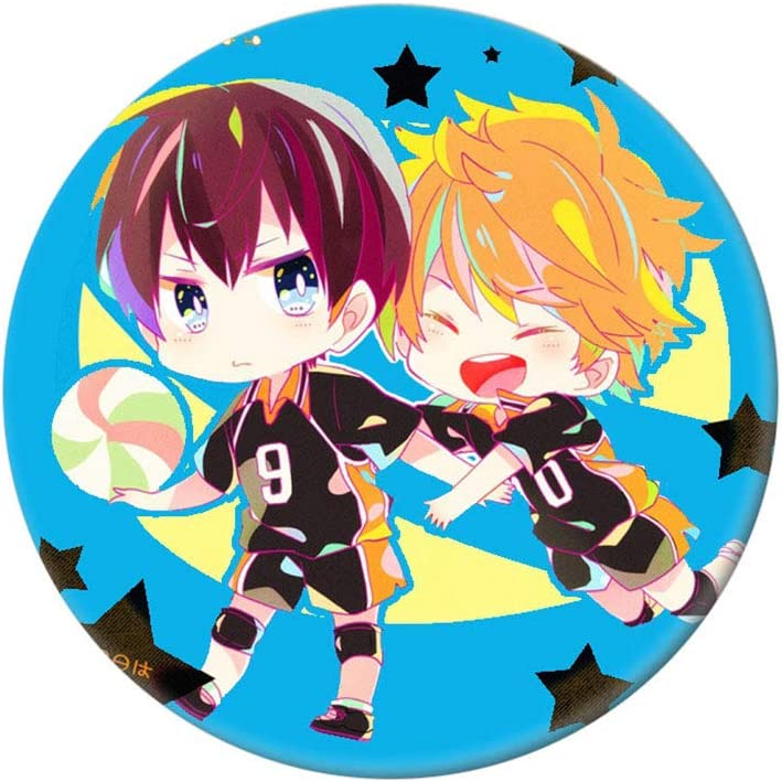 SGOT Anime Haikyuu Broche Broche Badges M/étal Q Version Collectionneurs pour V/êtements Sac /à dos Trousse 5,8 cm 10 pi/èces