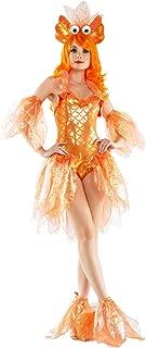 Women's Deluxe Shimmering Goldfish 4 Piece Costume Set