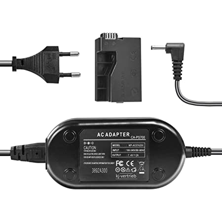 subtel/® Qualit/äts Netzteil kompatibel mit Canon EOS 1100D EOS 1200D EOS Rebel T3 EOS Rebel T5 7.4V Stromadapter AC Adapter Netzadapter CA-PS700 3m ca