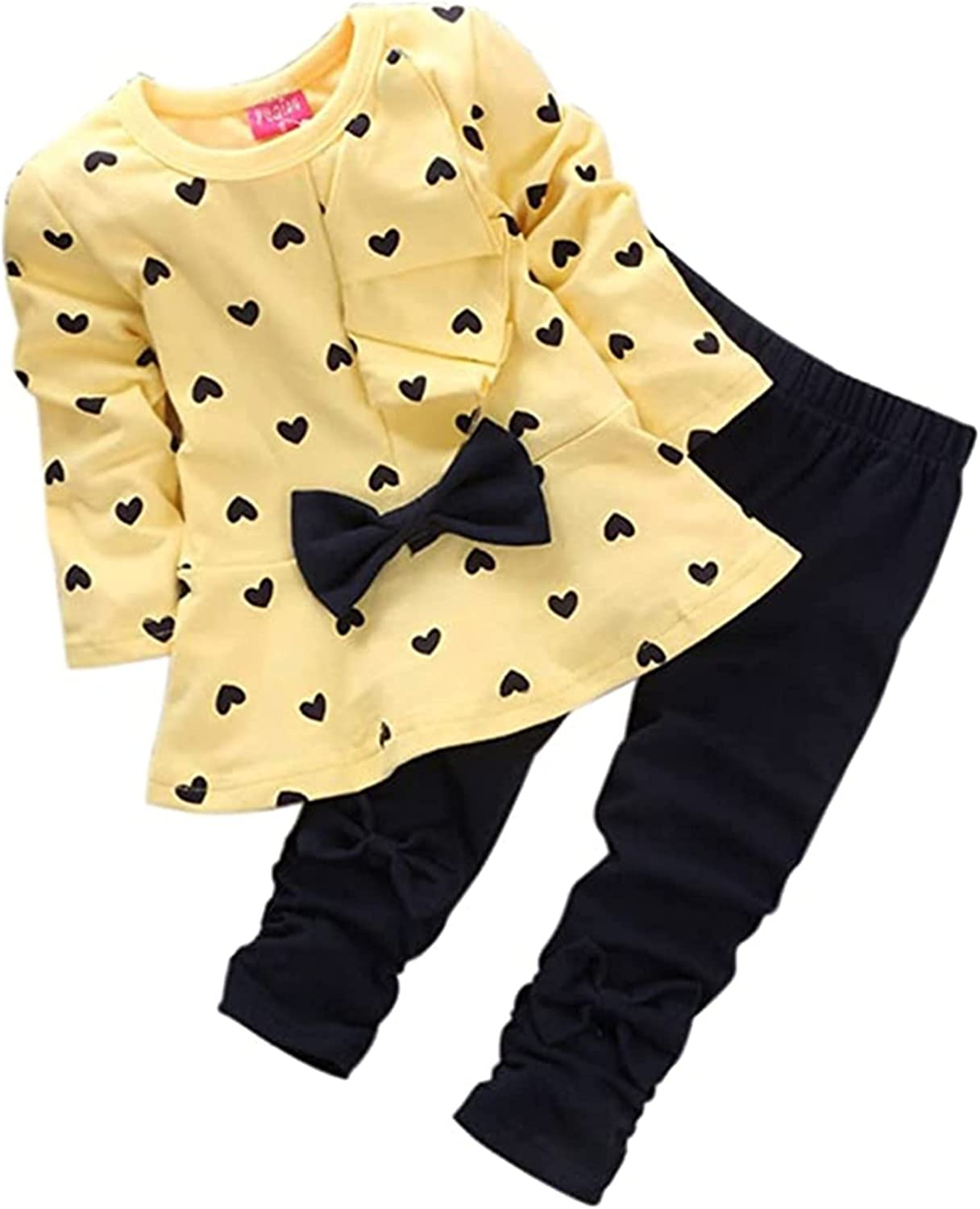 QINYI Clothes for Toddler, Kids Girls Warm Coat and Long Pants